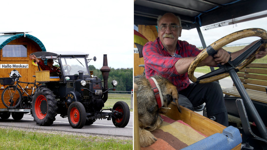 'House on wheels': German fan, 70, driving vintage tractor to Russia for World Cup (VIDEO, PHOTOS)