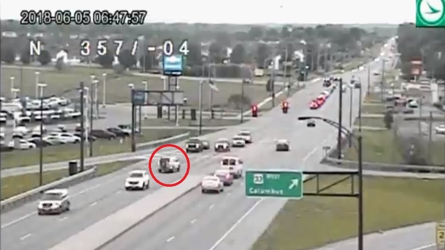 'What not to do in traffic': Ohio transport release crazy reversing SUV video