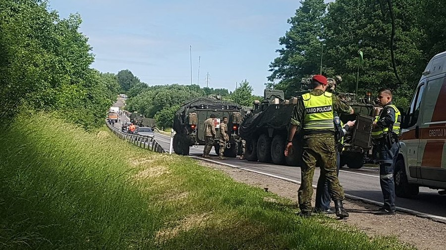 13 injured as 4 US armored vehicles collide on Lithuania road (PHOTOS)