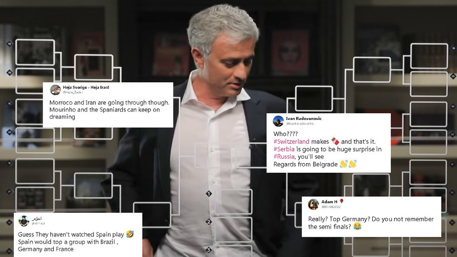 'Agree with Jose'...'Keep on dreaming'- Fans react to Match Mourinho World Cup predictions