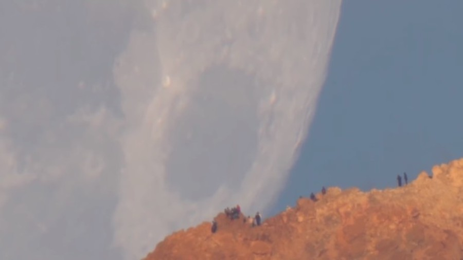 Mesmerising moment a massive 'Milk Moon' sets captured in magical video (WATCH)