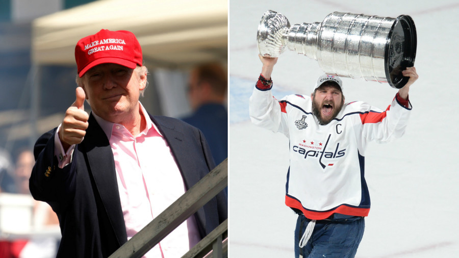 Trump congratulates 'superstar' Ovechkin for making 'D.C. poppin' with Caps success