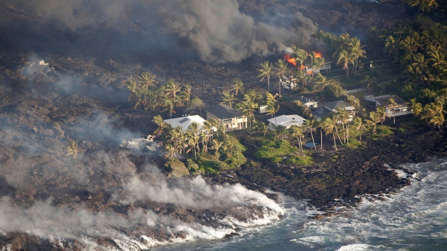 Satellite images show effects of volcano's latest explosion on Hawaii's Big Island