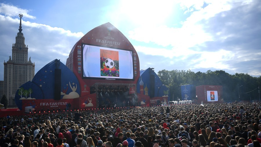 Moscow FIFA Fan Fest zone opens ahead of World Cup kick-off