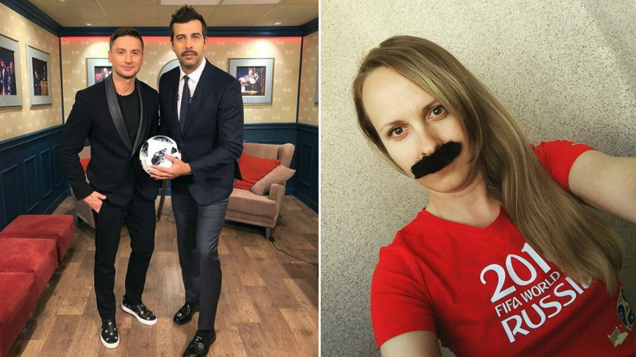 'Mustache of hope': Russians sprout facial hair in support of team ahead of World Cup