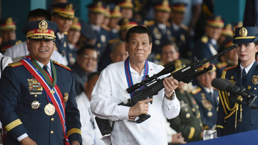 Philippines plans to give free guns to 'clean' community leaders willing to fight drugs & crime