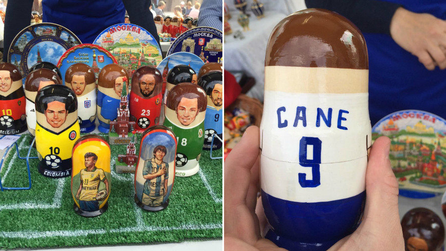 'Cane you kick it?' England captain depicted on Matryoshka doll, but spelling hits the bar