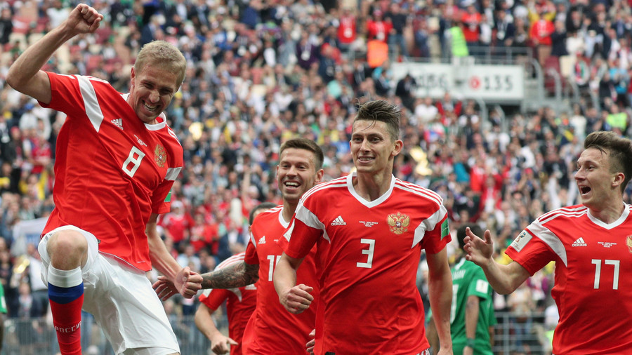 Surprise selection Gazinsky scores 1st World Cup 2018 goal for Russia
