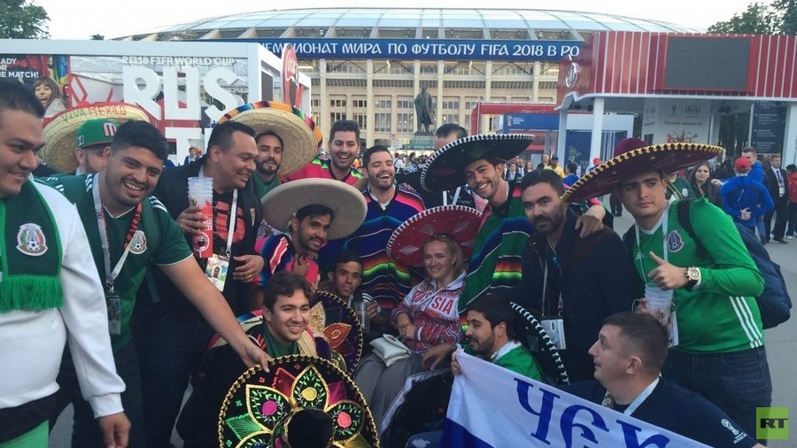 Wave of Mexicans steal hearts by posing with disabled Russian fans at World Cup opener
