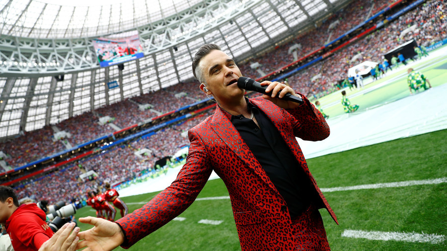 PR stunt or more? Robbie Williams' middle finger at FIFA World Cup opening puzzles Twitter community