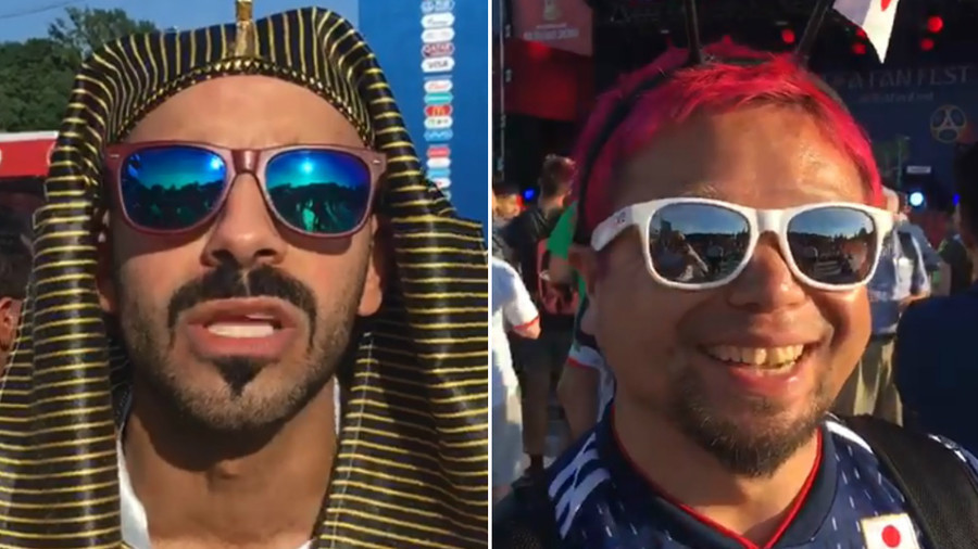 'Get better, Mo!' Foreign fans in Moscow send wishes to Salah after bittersweet birthday (VIDEO)