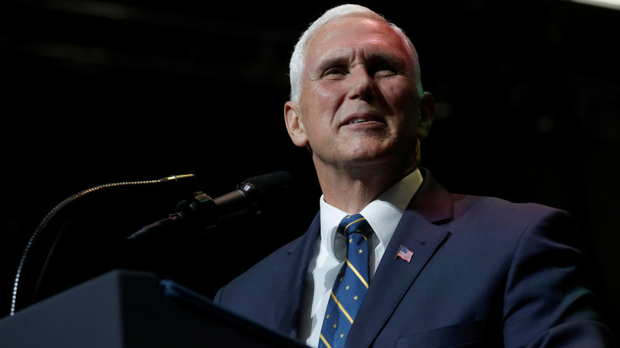 Pence heckled repeatedly during tax reform speech (VIDEO, PHOTOS)