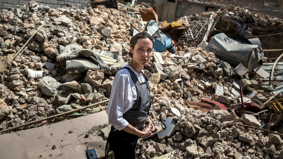 'You can smell the bodies': Angelina Jolie in Mosul one year after 'liberation' by US-led coalition