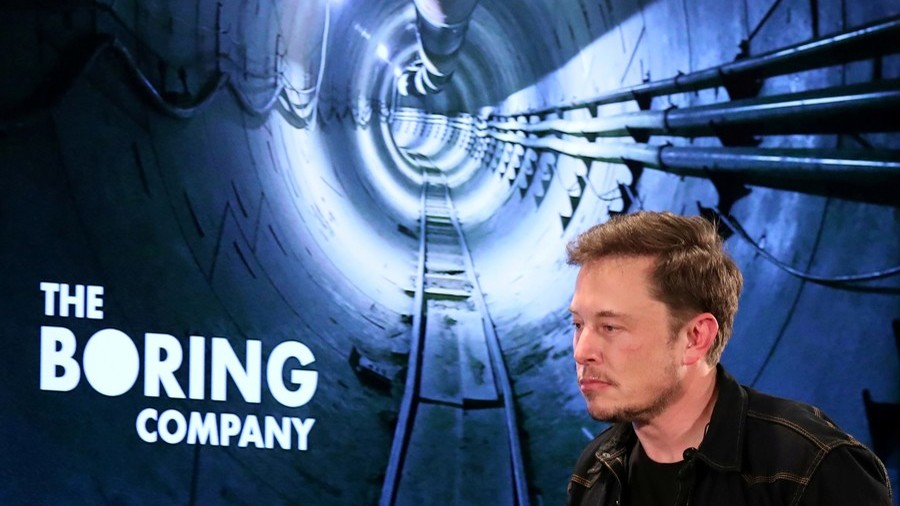 Boring Company shoots Tesla car down underground tunnel (VIDEO)