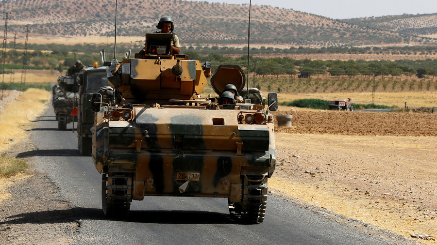 Turkish military patrols outskirts of Kurdish-militia dominated Syrian city