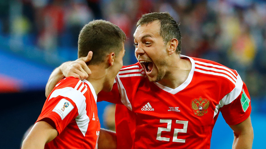 Rampant Russia all but through to World Cup knockout stage after 3-1 win over Salah's sorry Egypt