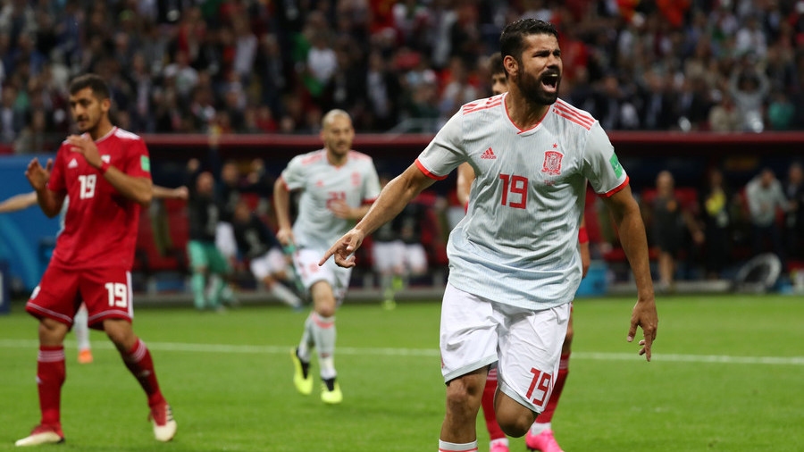 Diego Costa gives Spain crucial win over doughty Iran