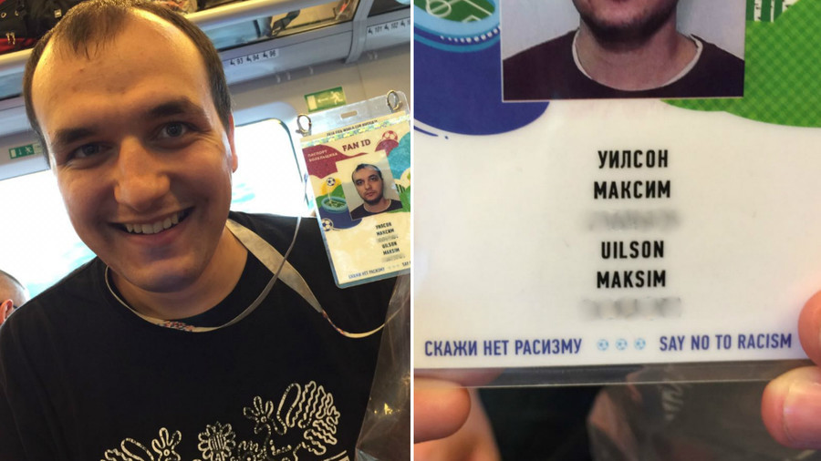 Russian football fan legally changes surname to British name for World Cup FAN ID