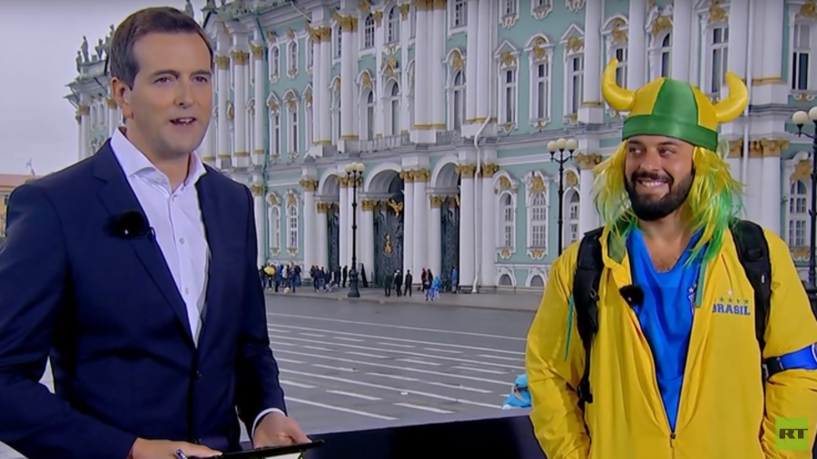 'F***ing awesome, bro!' RT meets Brazilian fan who went viral with his smooth Russian skills