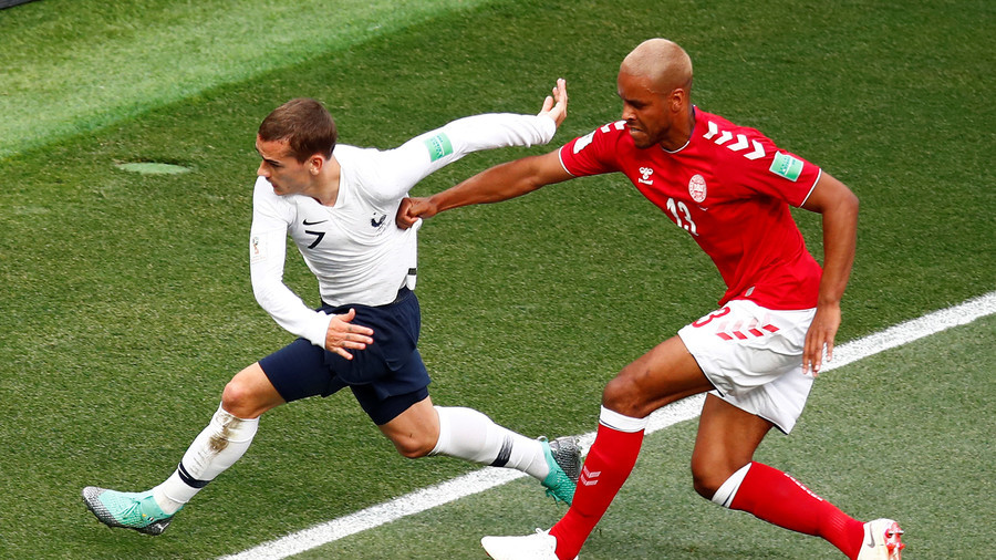 World Cup sees first goalless draw as Denmark and France play out dour 0-0 in Moscow