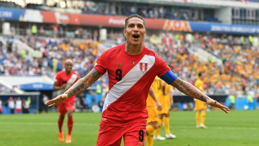 Peru 2-0 Australia: Guerrero among goals as Peru record 1st World Cup win for 36 years