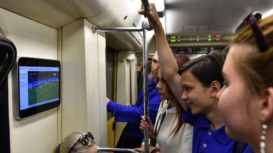 Messi on the Metro: Over 14mn passengers watch World Cup games on Moscow underground