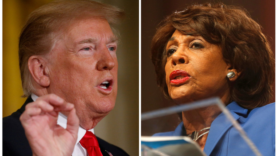 'I'm not going anywhere!': Trump keeps up attack on 'unhinged' Maxine Waters