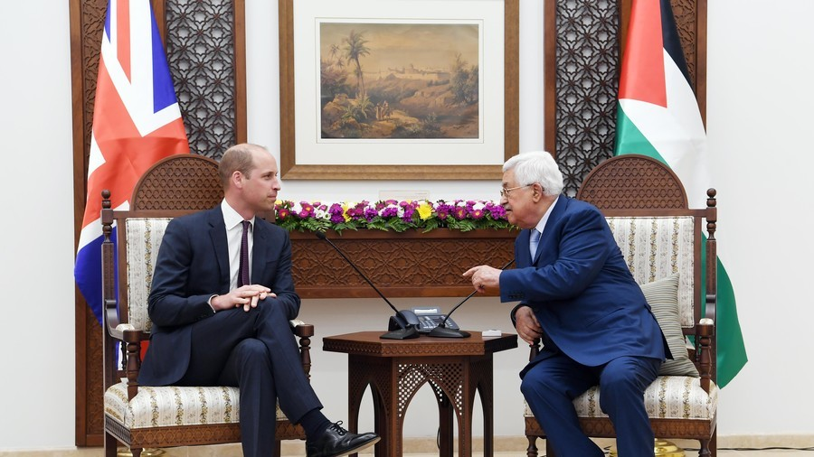 Prince William's crossing into the Occupied Palestine territories unsurprisingly divides Twitter