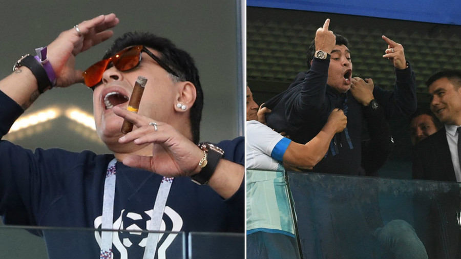 FIFA 'aware' of Maradona behavior after bizarre outburst at Argentina match
