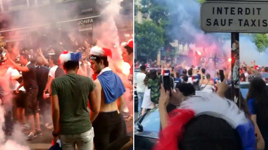 Wild celebrations in Paris as France book World Cup last 8 spot with win over Argentina (VIDEO)