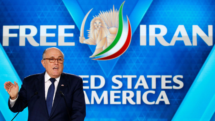 Blunderful Giuliani says US wants to change regime in Iran