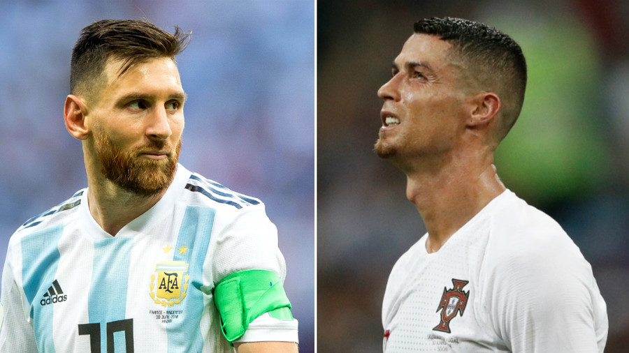 Heading home:  Cristiano Ronaldo joins Lionel Messi in World Cup heartbreak