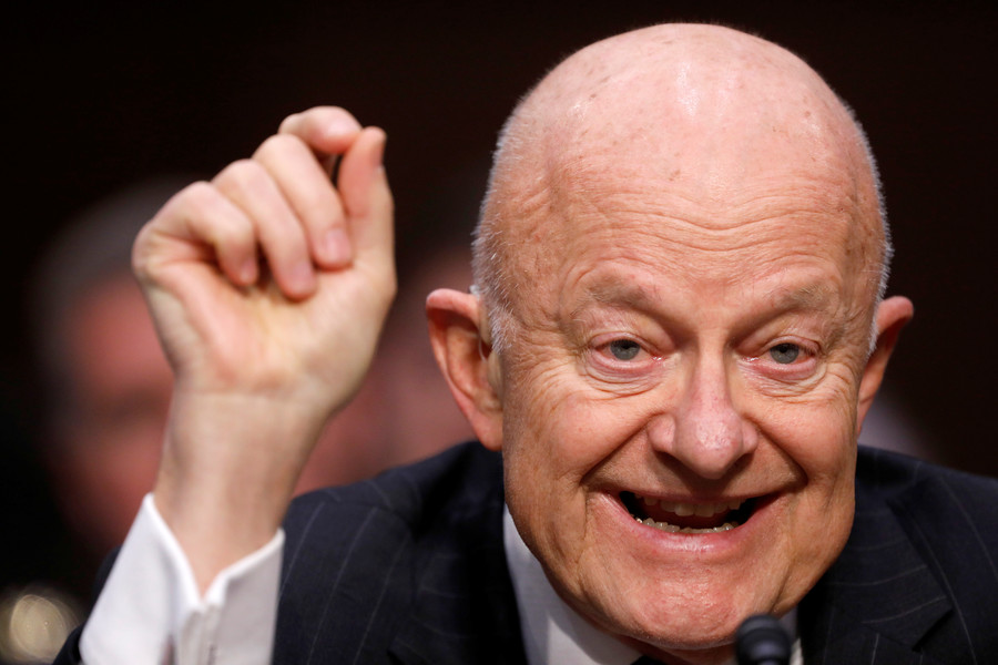'The best interests of the people': Ex-US top spy Clapper justifies election interference