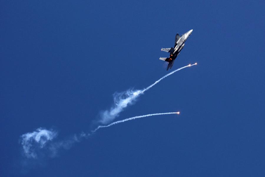 Israel strikes 15 'terror targets' in retaliation against rocket fire from Gaza (VIDEO)