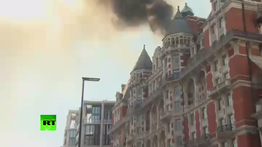 Major fire at London's luxury Mandarin Oriental hotel just weeks after £185m refurbishment completed