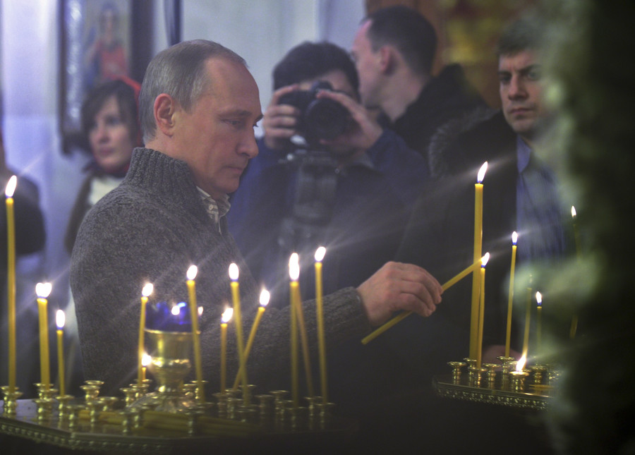 What Putin said when asked 'when he started to believe in God'