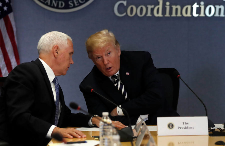 Watergate? Trump and Pence's double act fuels conspiracies on social media