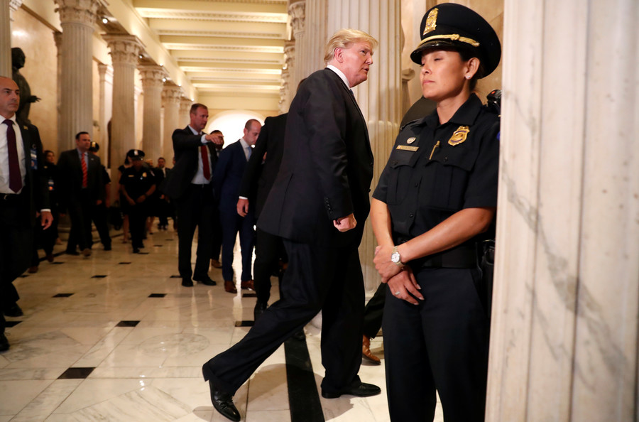 'F**k you!': Trump welcomed to Capitol rotunda with F-bomb (VIDEO)
