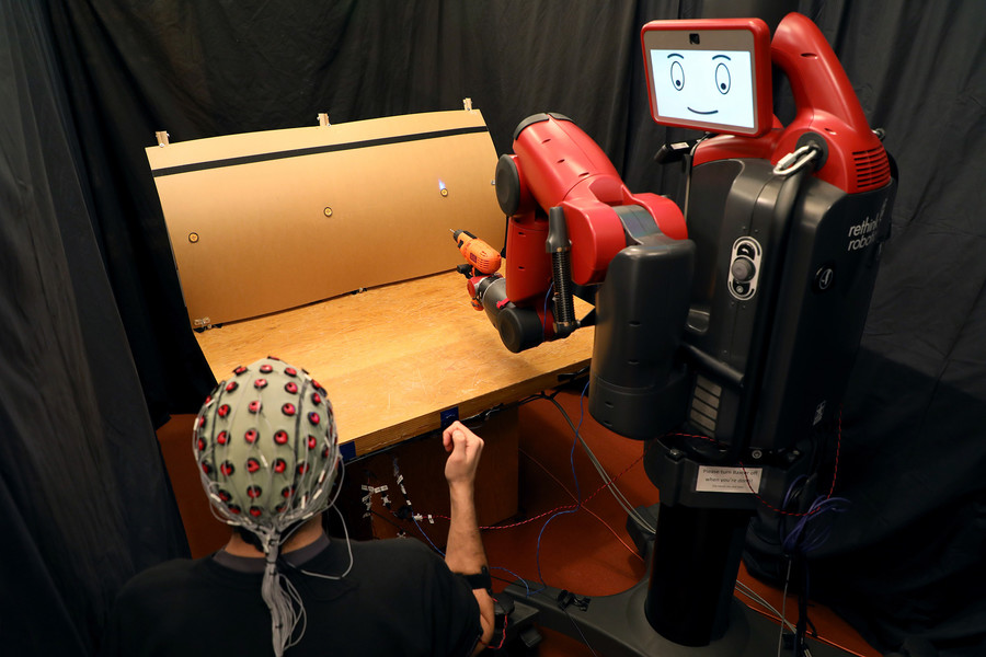 Power of thought and flick of a finger: MIT creates mind & gesture controlled robot (VIDEO)