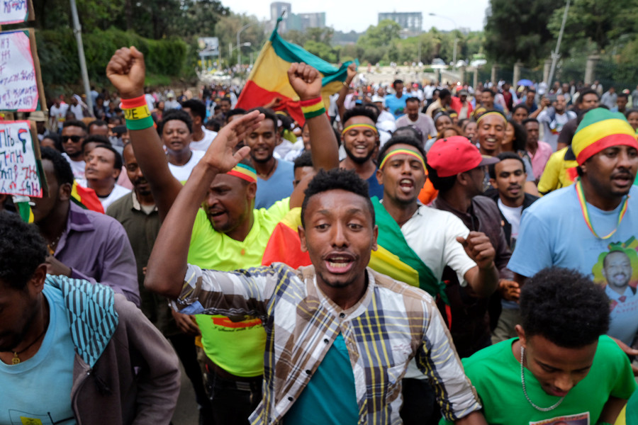1 killed, 155 injured in blast at rally supporting Ethiopia's new prime minister