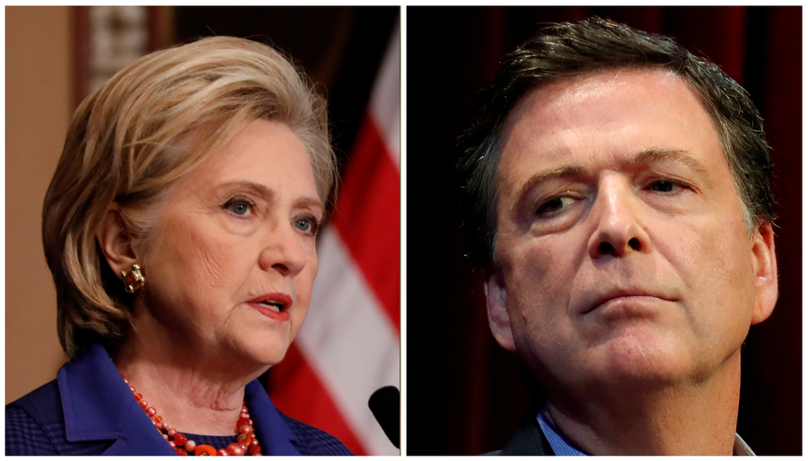 Close encounters? Clinton & Comey within 1km of each other on Dublin trip (VIDEO)