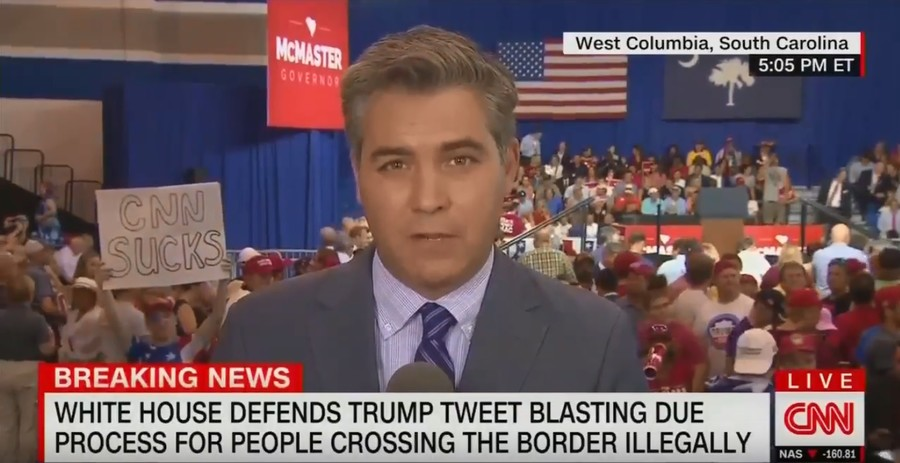 'Go home, CNN sucks!' White House correspondent booed & berated at Trump rally (VIDEO)