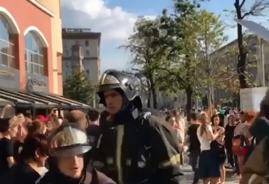 Fire in Moscow shopping mall triggers mass evacuation