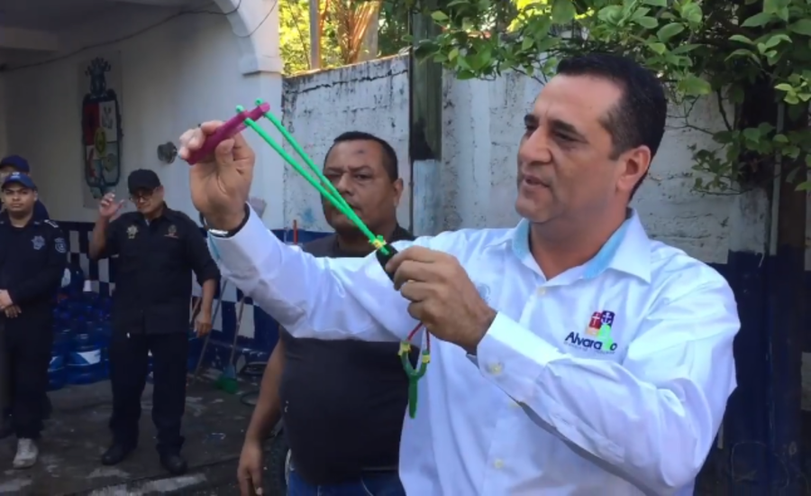 Guns for catapults: Mexican mayor hands out slingshots to police after they fail firearm use test