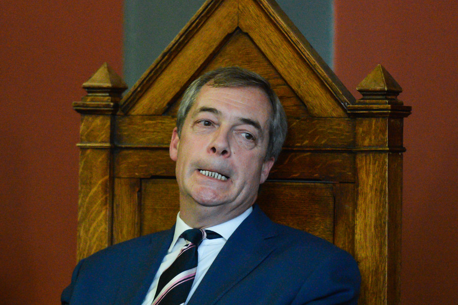 Leaked pic reportedly shows Nigel Farage delighted at Brexit night pound collapse