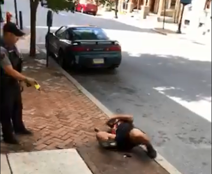 Police slammed for tasing unarmed black man as VIDEO of him writhing in pain goes viral