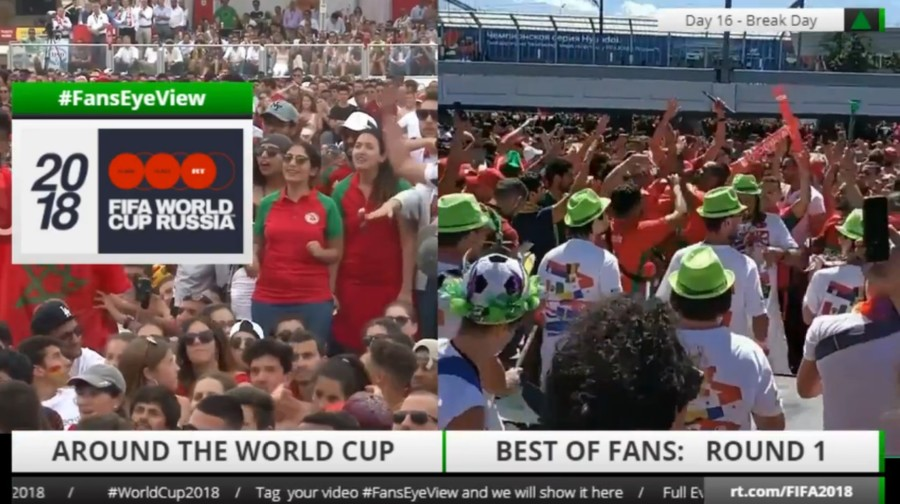 WORLD CUP 2018 LIVE #FansEyeView