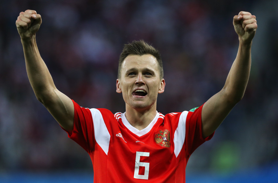 Igor Akinfeev's unbelievable  kick save powers Russian Federation  to upset over Spain