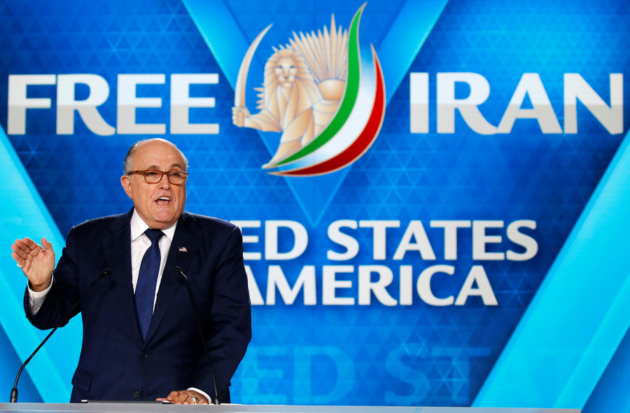 Blunderful Giuliani says US wants to change regime in Iran