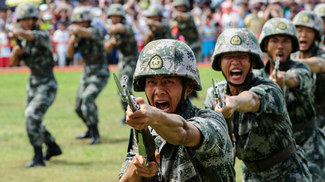 FILE PHOTO: PLA soldiers © Anthony Wallace